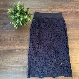 NWT Abercrombie & Fitch crochet skirt